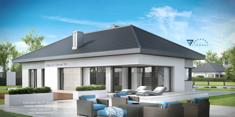 Immagine Villa V38 (progetto originale) - vista terrazzo esterno grande