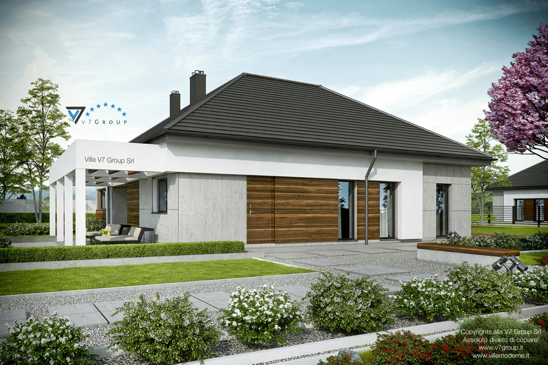 Immagine Villa V39 (progetto originale) - vista laterale grande
