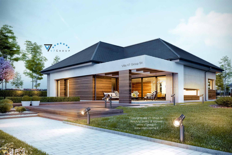 Immagine Villa V39 (progetto originale) - vista terrazzo esterno grande