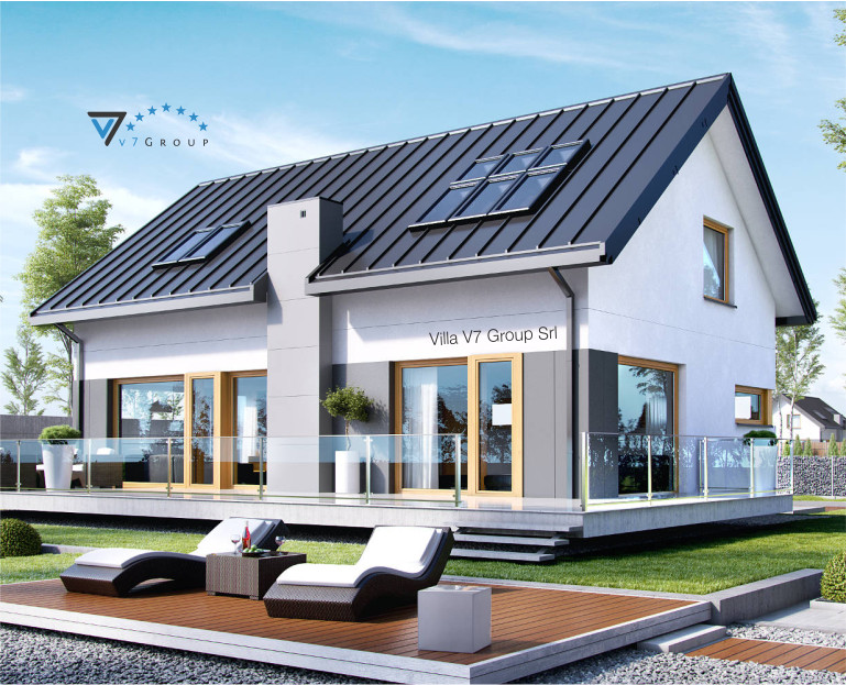 Immagine Villa V4 (progetto originale) - il terrazzo esterno in dettaglio