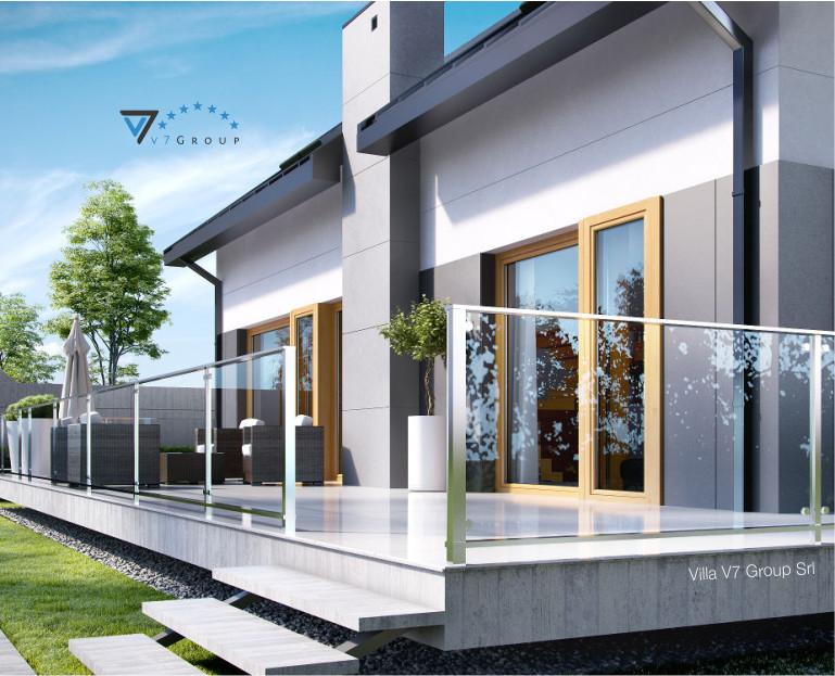 Immagine Villa V4 (progetto originale) - il terrazzo ingrandito
