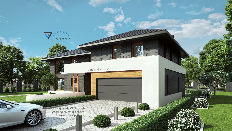 Immagine Villa V40 (progetto originale) - vista frontale garage grande