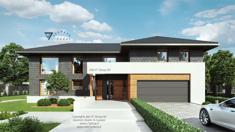 Immagine Villa V40 (progetto originale) - vista frontale grande