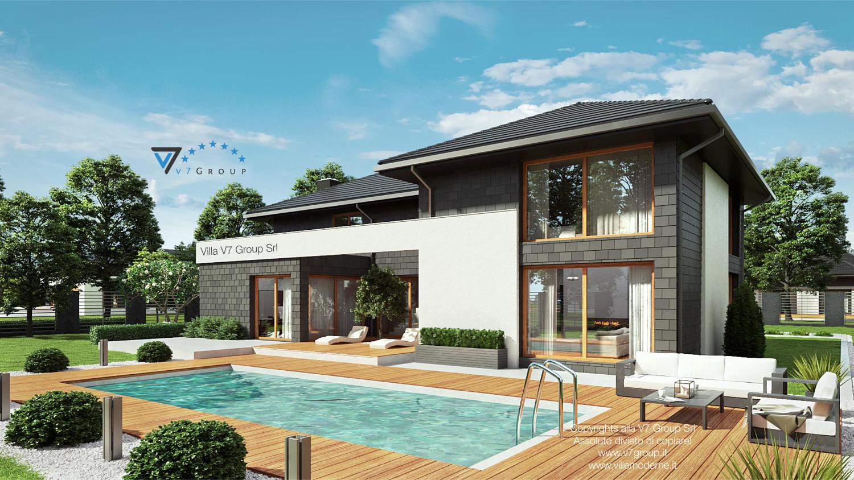 Immagine Villa V40 (progetto originale) - vista piscina di lato grande