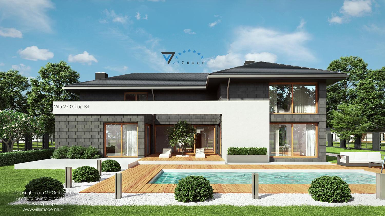 Immagine Villa V40 (progetto originale) - vista piscina grande