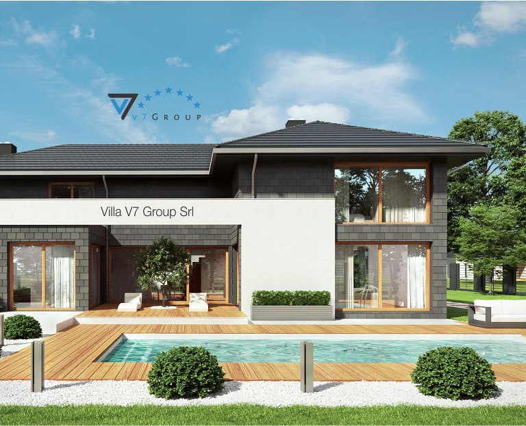 Immagine Villa V40 (progetto originale) - vista piscina piccola