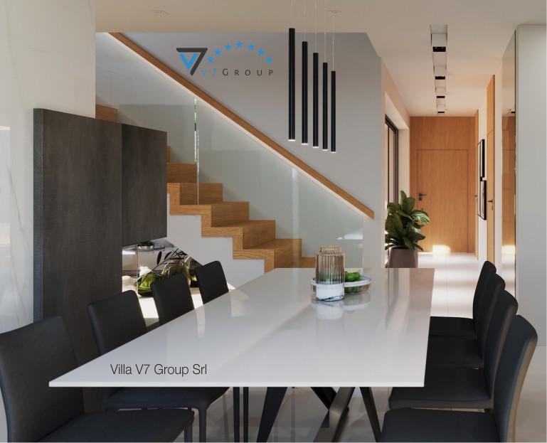 Immagine Chi siamo Villa V49 - sala da pranzo e corridoio interno