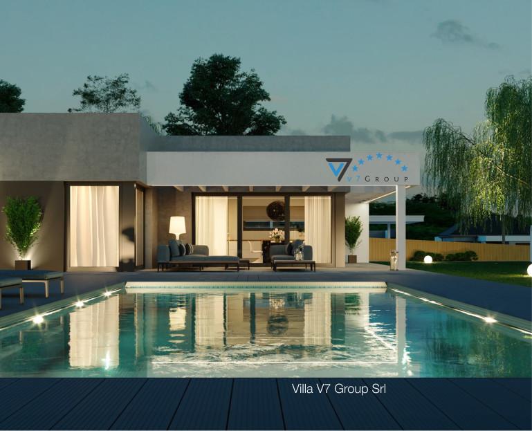 azienda immagine villa v58 vista piscina di sera dettaglio