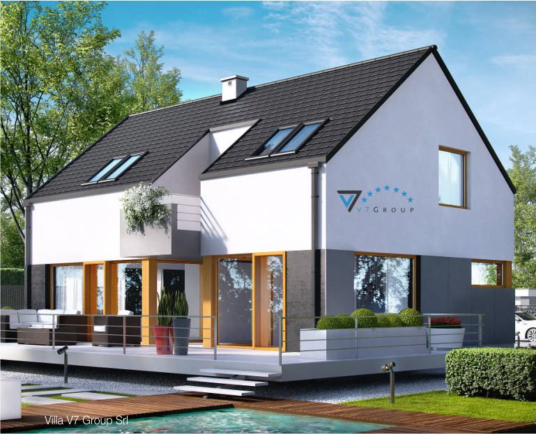 Immagine Villa V6 (progetto originale) - il dettaglio del terrazzo esterno