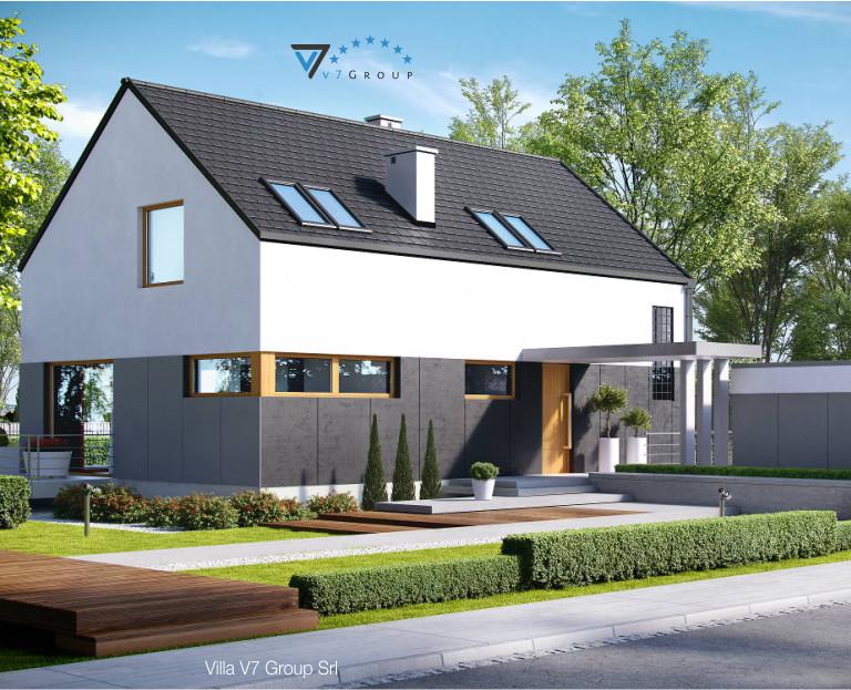 Immagine Villa V6 (progetto originale) - il dettaglio dell'entrata della casa