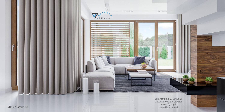 Immagine Villa V7 - interno 3 - soggiorno e corridoio