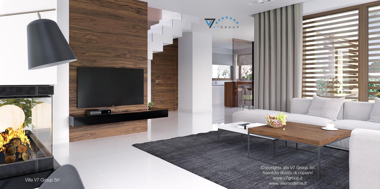 Immagine Villa V7 - interno 4 - corridoio e soggiorno