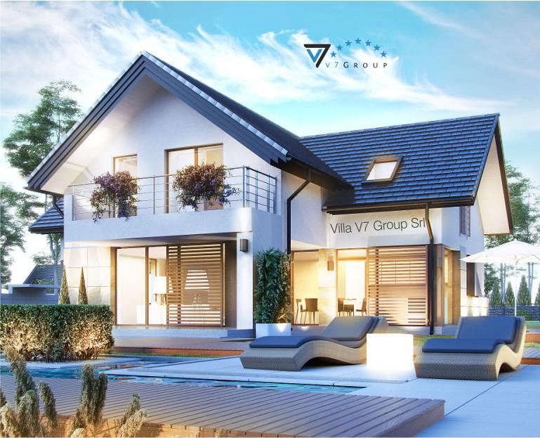 Immagine Villa V7 - vista giardino e del terrazzo esterno