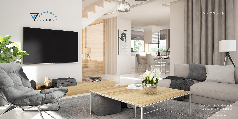 Immagine Villa V8 - interno 2 - soggiorno e corridoio