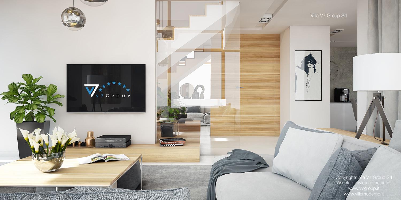 Immagine Villa V8 - interno 3 - soggiorno e corridoio