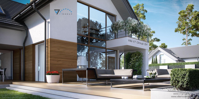 Immagine Villa V8 - vista grande del giardino in dettaglio