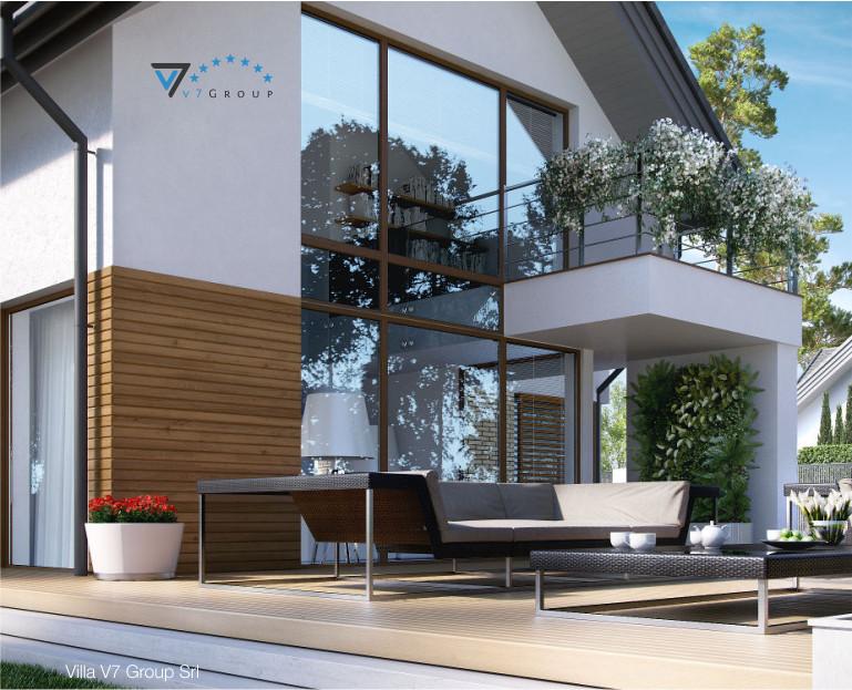 Immagine Villa V8 - vista piccola del terrazzo esterno