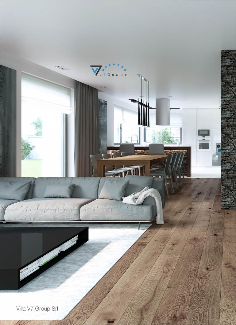 immagine di interni chiari di villa v1 soggiorno e cucina - reparto azienda