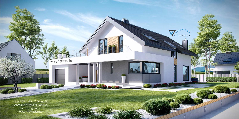 Immagine Villa V2 ENERGO - vista frontale della casa