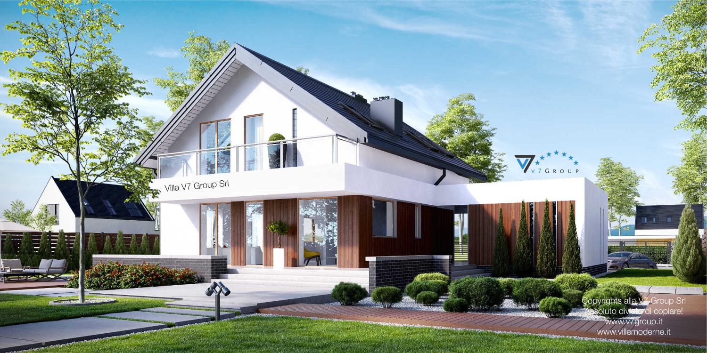 Immagine Villa V3 (progetto originale) - vista giardino grande