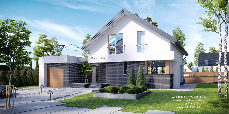 Immagine Villa V3 (progetto originale) - vista frontale grande