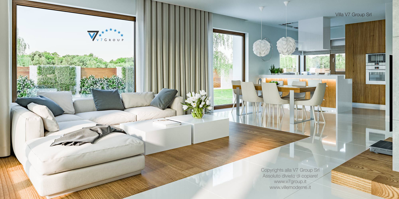 Immagine Villa V3 (progetto originale) - interno 1 - soggiorno