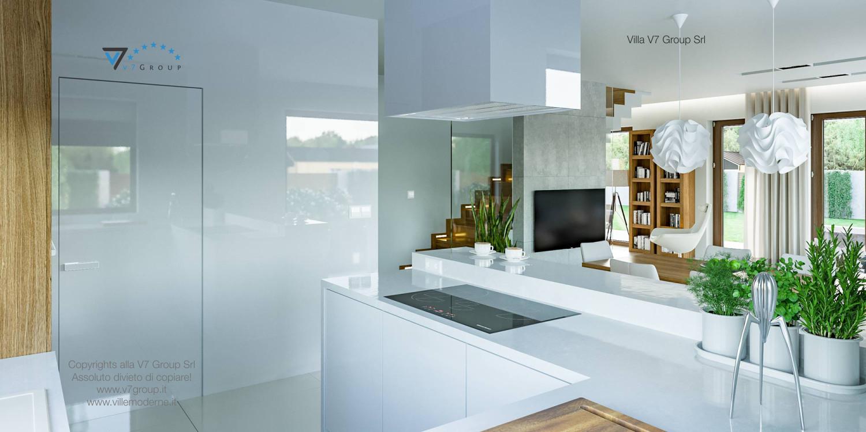 Immagine Villa V3 (progetto originale) - interno 10 - cucina e corridoio