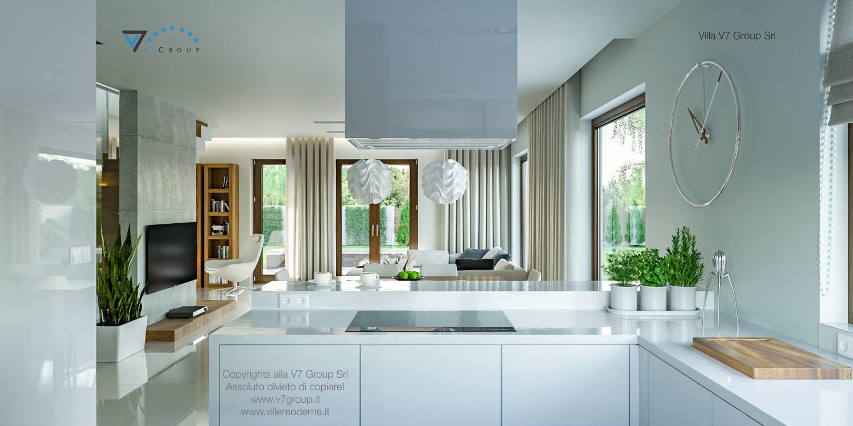 Immagine Villa V3 (progetto originale) - interno 11 - cucina e soggiorno