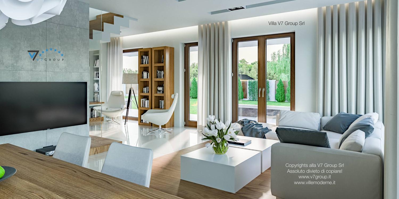 Immagine Villa V3 (progetto originale) - interno 3 - soggiorno