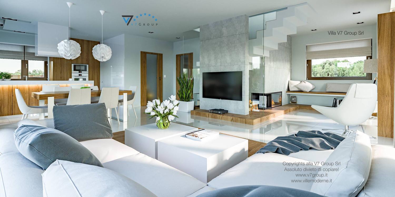 Immagine Villa V3 (progetto originale) - interno 4 - soggiorno