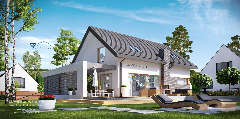 Immagine Villa V5 (progetto originale) - ampio terrazzo esterno della casa
