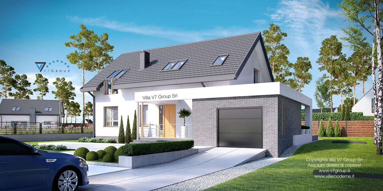 Immagine Villa V5 (progetto originale) - parte frontale della casa