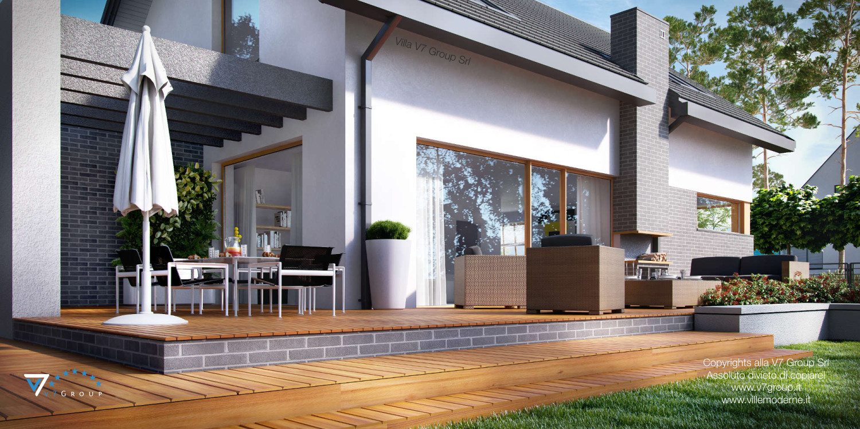 Immagine Villa V5 (progetto originale) - il grande terrazzo esterno della casa