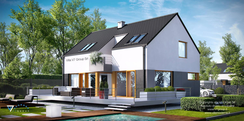Immagine Villa V6 (progetto originale) - il design del terrazzo esterno