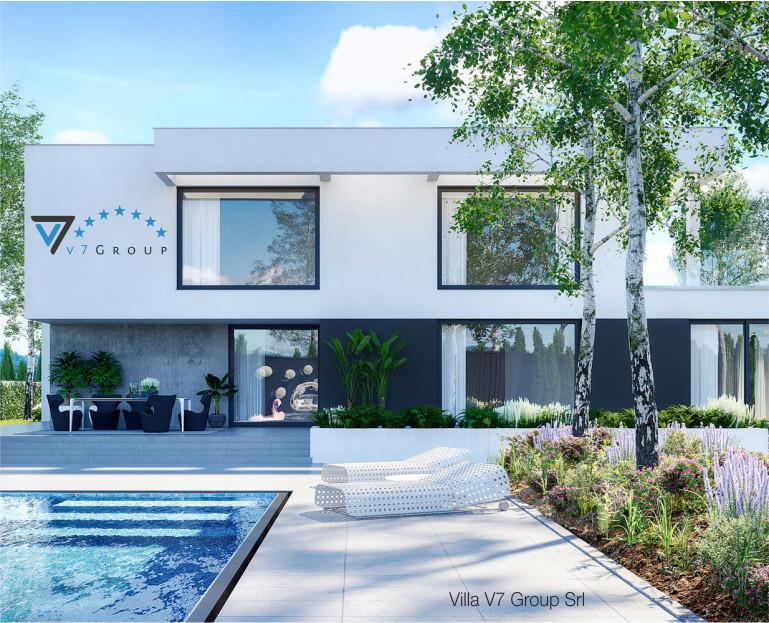 Immagine Ville di V7 Group Srl - il bordo della piscina e vista della casa