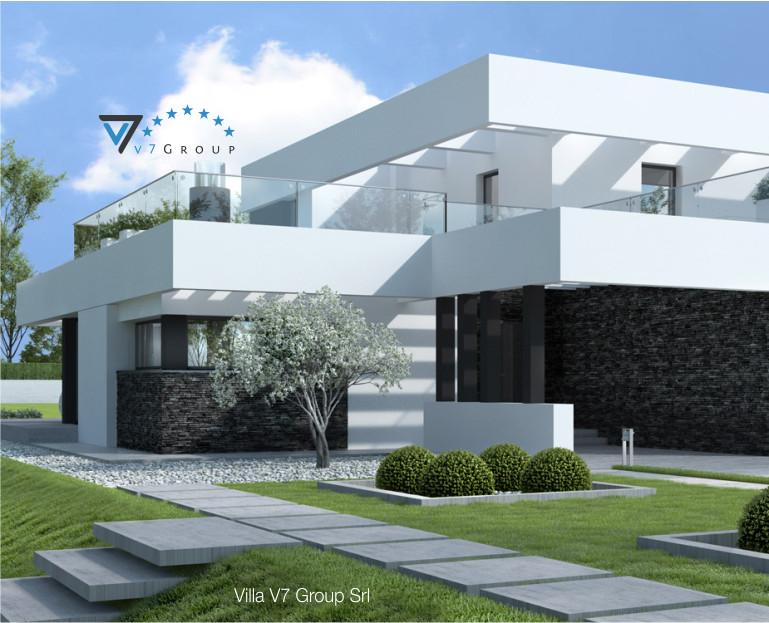 Immagine Villa V41 (progetto originale) - l'entrata principale in dettaglio
