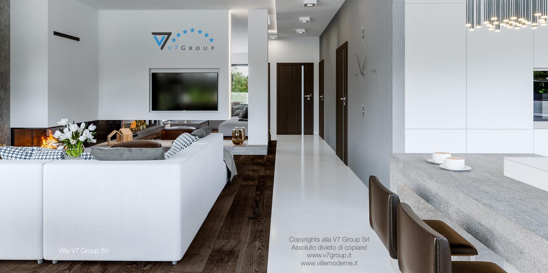 Immagine Villa V41 (progetto originale) - interno 1 - soggiorno e corridoio