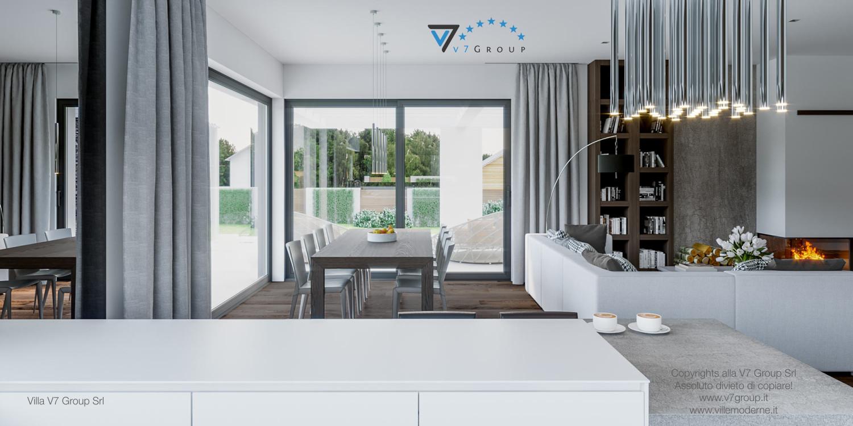 Immagine Villa V41 (progetto originale) - interno 2 - sala da pranzo