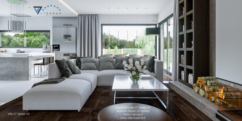 Immagine Villa V41 (progetto originale) - interno 3 - soggiorno