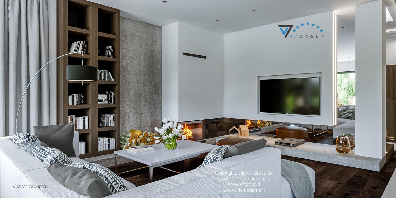 Immagine Villa V41 (progetto originale) - interno 4 - soggiorno