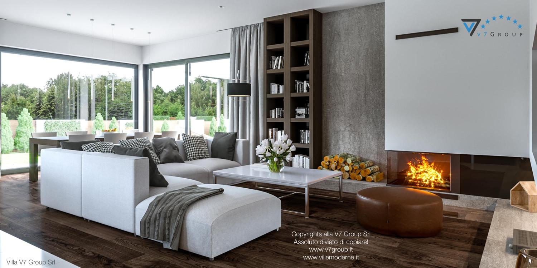 Immagine Villa V41 (progetto originale) - interno 5 - soggiorno