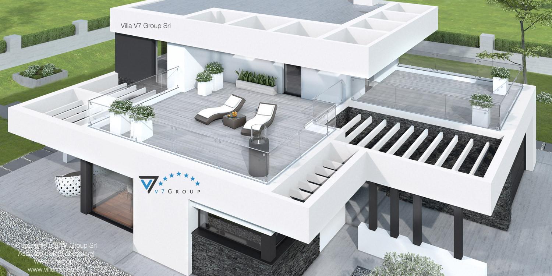 Immagine Villa V41 (progetto originale) - vista dall'alto grande
