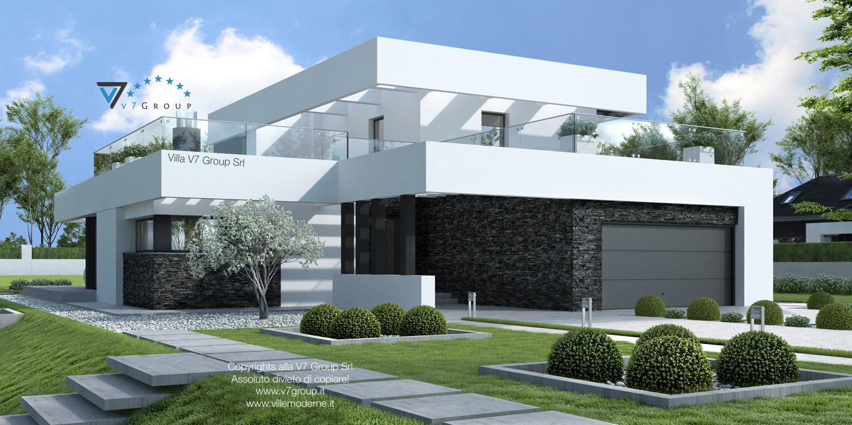 Immagine Villa V41 (progetto originale) - vista frontale grande