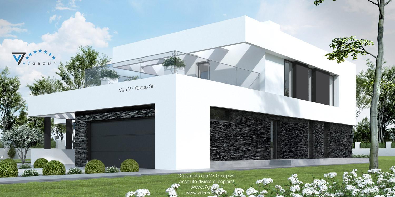 Immagine Villa V41 (progetto originale) - vista frontale laterale grande
