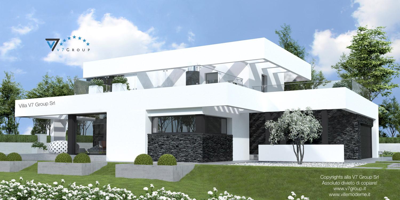Immagine Villa V41 (progetto originale) - vista laterale grande