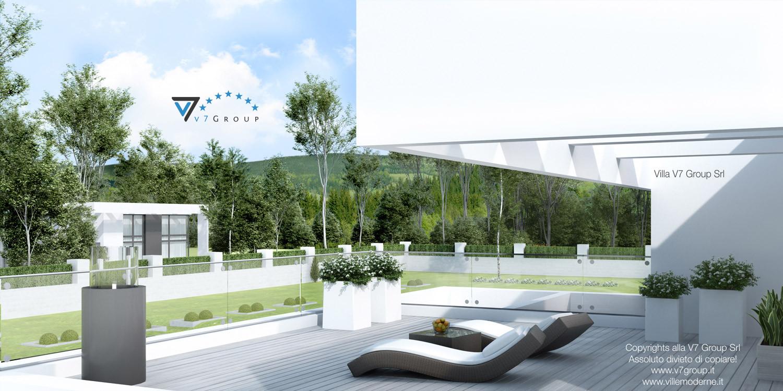 Immagine Villa V41 (progetto originale) - vista terrazzo esterno al primo piano grande