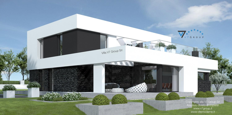 Immagine Villa V41 (progetto originale) - vista terrazzo esterno grande