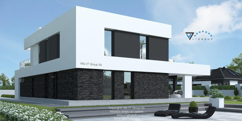 Immagine Villa V41 (progetto originale) - vista terrazzo esterno laterale grande