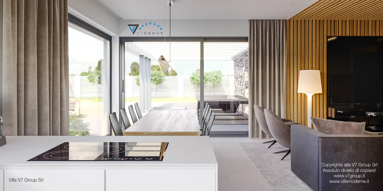 Immagine Villa V42 (progetto originale) - il design della sala da pranzo