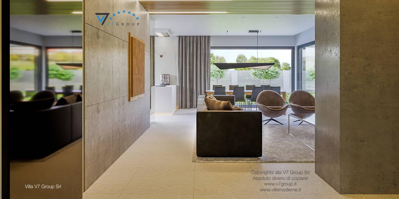 Immagine Villa V42 (progetto originale) - vista soggiorno dal corridoio